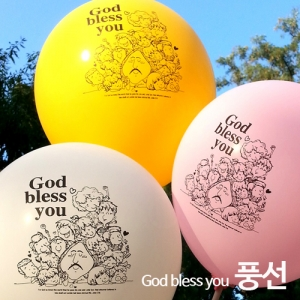 GOD bless you 데코&전도용풍선